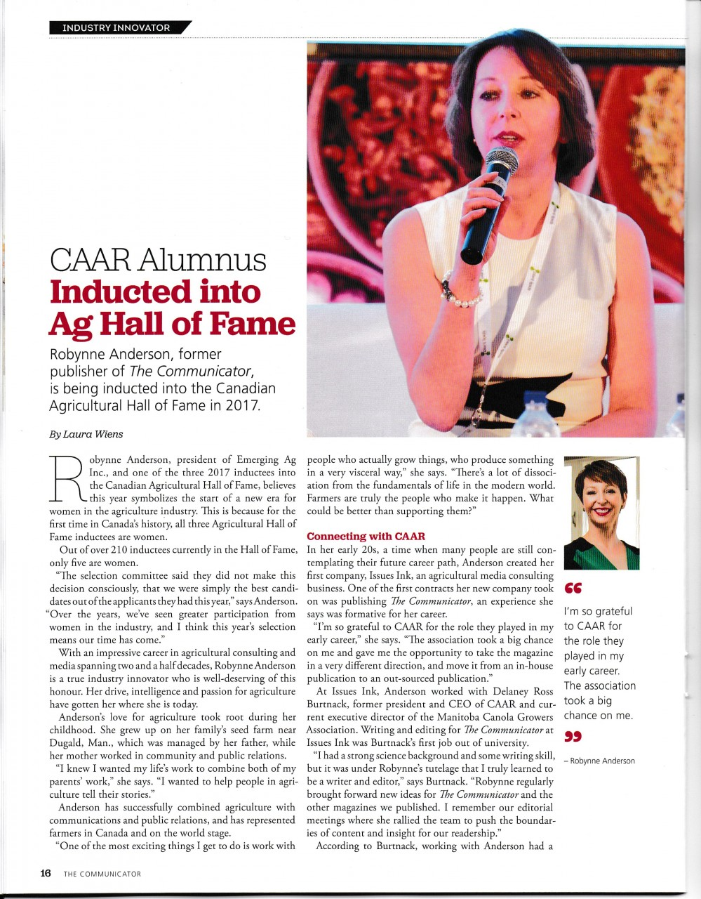 The Communicator highlights induction into Ag Hall of Fame
